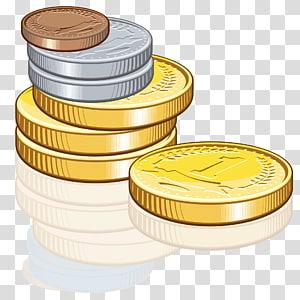 koin berwarna perak, berwarna emas, dan berwarna tembaga, Koin, Koin png