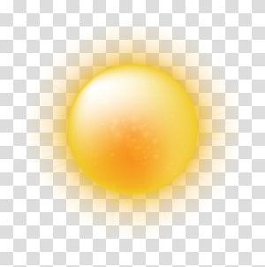 Yellow Sphere Egg Computer, Kartun bahan matahari musim panas, ilustrasi matahari PNG clipart