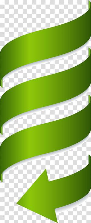 Euclidean, panah spiral berwarna hijau, ilustrasi panah hijau png