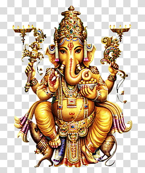 ilustrasi patung ganesh emas, Shiva Ganesha Parvati Kali Dewa, hindu png