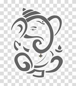 ilustrasi gajah kelabu, Ganesha Ganesh Chaturthi Hinduism Dewa, Ganesha png