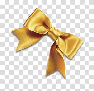 ilustrasi pita pita emas, dasi kupu-kupu, pita kuning, tali sepatu, pita pita kuning png
