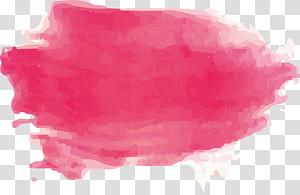 Kuas lukisan cat air, Kuas cat air merah muda, lukisan abstrak merah muda png