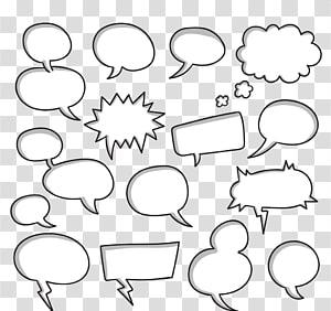 pesan ilustrasi cloud lot, kotak Dialog Pidato Komik Dialog, kotak Dialog png