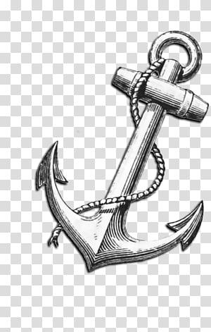jangkar abu-abu, T-shirt Anchor Tattoo Printmaking Maritime transport, anchor png