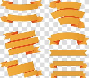 kolase signage pita kuning, Pita Web Pita kertas Euclidean, 9 bahan spanduk pita oranye png