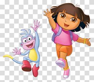 Ilustrasi Dora The Explorer and Boots, Dora the Explorer Swiper Cartoon, Dora Buji PNG clipart
