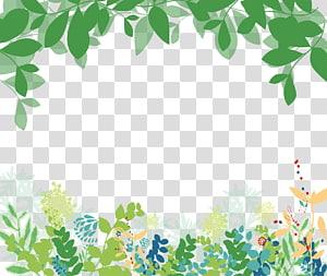CorelDRAW, Latar belakang bunga hijau yang dilukis dengan tangan hijau, bunga aneka warna dan ilustrasi tanaman curian png