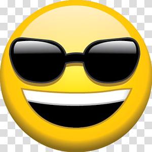 tersenyum dan memakai kacamata hitam emoji, Kacamata Emoji, Kacamata Latar Belakang Emoji PNG clipart
