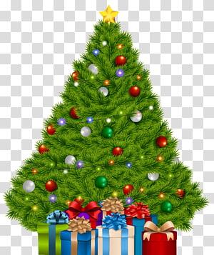 Pohon natal dengan kotak hadiah, pohon natal hadiah natal, pohon natal ekstra besar dengan hadiah png