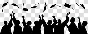 siluet akademik, upacara Wisuda Lapangan akademik topi Siswa Sekolah, kelulusan png