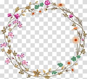 Kesederhanaan warna-warni bunga perbatasan tekstur perbatasan bunga, karangan bunga bunga kuning dan merah muda png