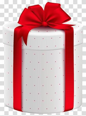kotak hadiah putih dan merah dengan aksen busur, Kotak pembungkus kado, Kotak Hadiah Putih dengan Busur Merah png
