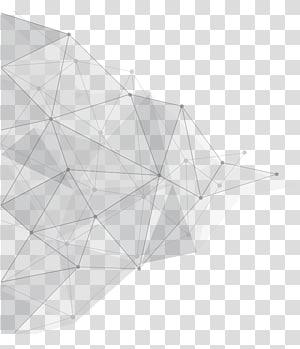 Geometry Angle, Latar belakang ruang segitiga, titik abu-abu dan krem dengan ilustrasi garis png