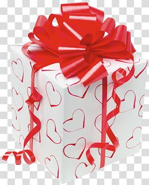 close-up dari kotak hadiah putih dan merah, kartu ucapan Ulang tahun Wish Wish Brother, White Present with Red Bow png