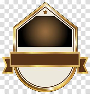 grafis label emas, putih, dan coklat, Label Kertas, Label Emas dan Coklat PNG clipart