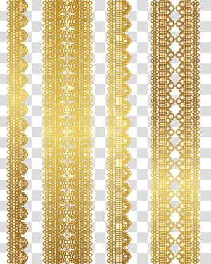 Renda Emas Euclidean Tekstil, bahan pola renda Emas, empat tali emas png
