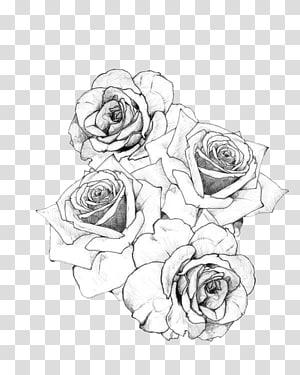 Artis tato Rose Flash, Tattoo, ilustrasi mawar putih png