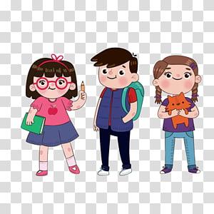 ilustrasi cowok dan cewek, Student School Estudante, teman-teman sekelas sekolah Festival Animasi png