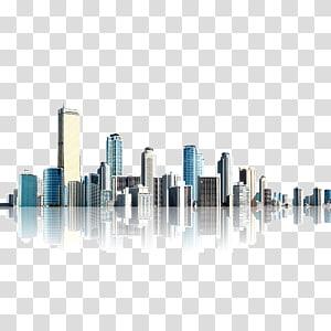 Arsitektur Kota, realisme material bangunan kota, ilustrasi bangunan kota PNG clipart