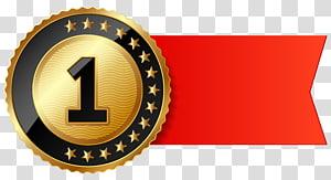 bulat 1 koin berwarna emas, Produk Font Logo Merek, First Place Ribbon png
