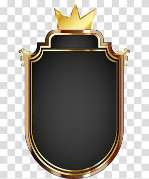 Clash Royale Euclidean Icon, Royal Gold, logo emas dan hitam dengan mahkota png