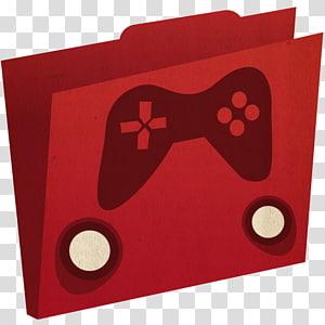 persegi panjang hati merah, folder Game, logo game hitam dan merah png