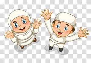 Islam Muslim, Islam, ilustrasi anak laki-laki dan perempuan PNG clipart