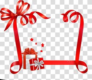 pita merah, Kertas Tag Nama Natal Pita Stiker, pita Hadiah png