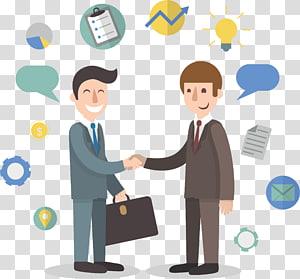 dua orang ilustrasi handshaking, etika Bisnis Manajemen perusahaan Startup, bisnis png
