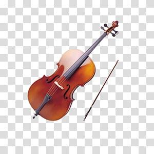 biola coklat dengan busur, Alat Musik Violin Cello Ukulele Bow, pola Biola png