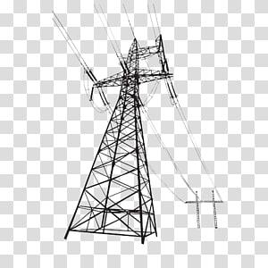 menara transmisi saluran listrik overhead, tegangan tinggi png