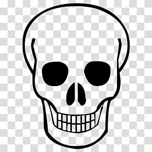 ilustrasi tengkorak hitam, Skull Calavera, Skull png