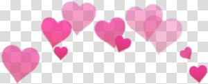 ilustrasi hati merah muda, filter grafis Snapchat Android, Sticker png