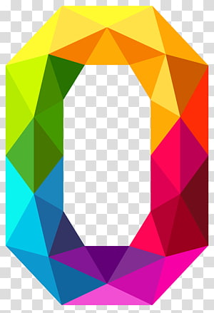 0 Number, Colourful Triangles Number Zero, simbol nol geometri warna-warni png