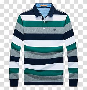 kemeja polo bergaris abu-abu, hijau, dan putih, T-shirt Polo shirt Ralph Lauren Corporation Clothing, POLO shirt png