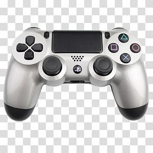 abu-abu Sony DualShock 4, Twisted Metal: Black Star Wars Battlefront PlayStation 4 PlayStation 3 Xbox 360, Playstation, Pengendali PS4 Perak png