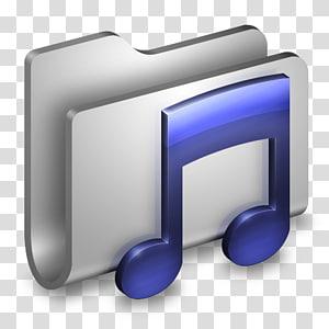 logo pemutar musik, font sudut biru, Folder Logam Musik png