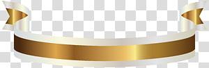 Spanduk Emas, Emas dan Putih, pita coklat dan putih png