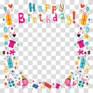 Kartu Ucapan Ulang Tahun, latar belakang poster Selamat Ulang Tahun, ilustrasi bingkai ulang tahun png