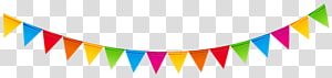 Pesta Ulang Tahun Serpentine streamer, Pita Ulang Tahun Berwarna-warni, buntings berbagai macam warna png