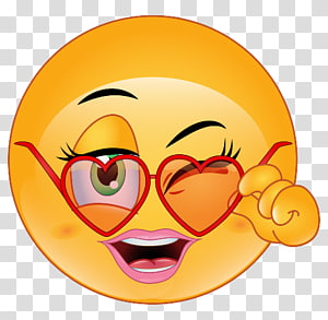 ilustrasi emoji wanita, Emoji Emoticon Flirting Smiley Love, genit png