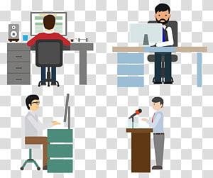 empat pria yang bekerja, Adobe Illustrator, bekerja PNG clipart
