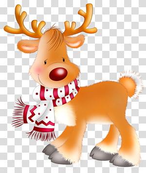 Rusa Natal Rudolph Santa Claus, Rudolph, ilustrasi digital rusa kutub png