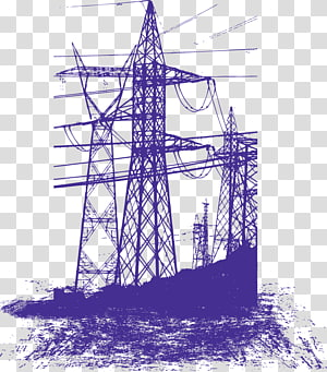 ilustrasi menara transmisi, Menara Transmisi Listrik Euclidean, tiang tegangan tinggi png