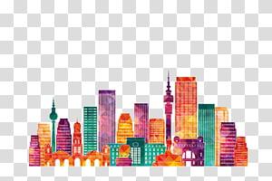 gedung-gedung bertingkat tinggi dan menengah, siluet johannesburg, bangunan kota PNG clipart