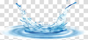 Tetesan Air, riak air, percikan air dengan riak png