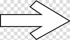 panah putih dan hitam ke kanan, Ikon Simbol Panah, Panah kanan png