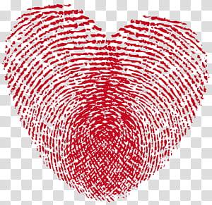 Sidik jari Heart Love Live scan, Heart Print, tanda ibu jari berbentuk hati png
