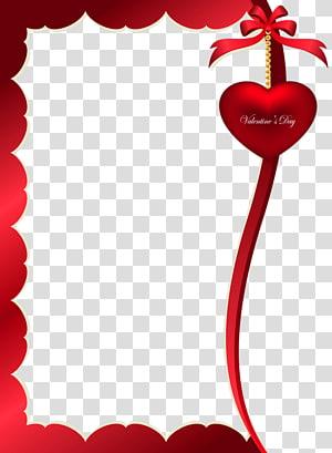 Bingkai Hari Valentine, Ornamen Dekoratif Hari Kasih Sayang untuk Bingkai, bingkai hati merah dan coklat png